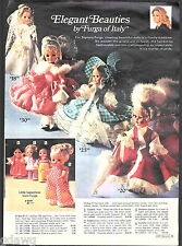 1971 ADVERTISEMENT Doll Italy Furga Rock Flower Bizzie Lizzie Play N' Jane Doug
