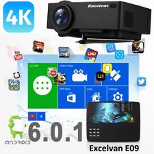 WiFi 4K Full HD 1080P LED Proyector Home Teatro Bluetooth AV/SD/USB/HDMI 8GB ES