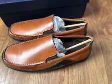 Cole Haan Men 10.5 M Tucker Venetian Slip On Loafers Tan Brown Leather C03559
