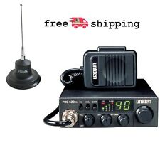 CB Radio 2-Way Uniden 40-Channel Truck Car SUV Magnet-Mount PA System Antenna