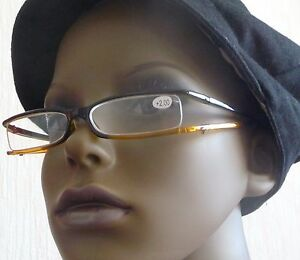 +1.00 Black n tan Reading Glasses and clear case