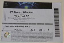 Ticket for collectors CL Bayern Munchen Villarreal CF 2011 Germany Spain