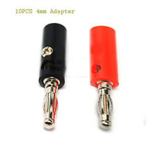 10 pcs 4mm Adapter Wire Cable Audio Speaker Banana Plugs Connector Black Red Lot