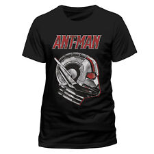 OFFICIAL MARVEL COMICS ANT-MAN AND THE WASP - SIDE VIEW MASK BLACK T-SHIRT (NEW)