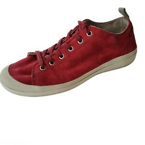 Palladium Womens Wander Lace Sue Sneakers Shoes Size 7 Suede Rio Red Lace Up