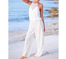 STUNNING Victorias Secret Crochet Viscose Pants Jumper Jumpsuit Cover Up NWT M