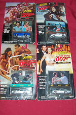 4 Old Johnny Lightning James Bond 007 Diecast Toy Car Dr No Thunderball Vintage