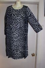 BOHO AUSTRALIA NWT SZS-8 HIPPY FESTIVAL KAFTAN TUNIC LEOPARD GREY & BLACK DRESS