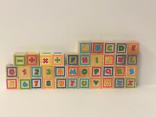 Set of 37 Disney Character Wooden Learning Building Blocks