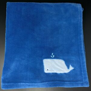Cloud Island Baby Blanket Blue Embroidered Whale Plush Fleece Lovey Target