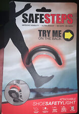 Safe Steps Attachable Shoe Safety Light - Red - New Factory Sealed.