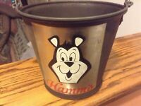 Ice Buckets Tin Party Drink Beer Pail man-cave Total of Four (4)HAMM's and LITE