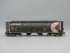 Intermountain HO Scale CP Rail Cylindrical Covered Hopper #388652 (Weathered)