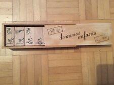 Domino Spiel Dominos Enfants Tiere Holz natur Legespiel für Kinder