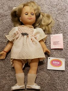 """VINTAGE GOTZ 16"""" ALL VINYL JOINTED Poupee articulee ORIGINAL OUTFIT, BOX, & TAGS"""
