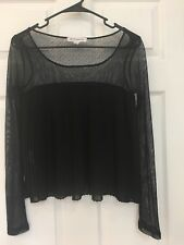BCBG Generation Lace back Baby Doll Lace Pleated Tunic Dress Blouse Top XXS *