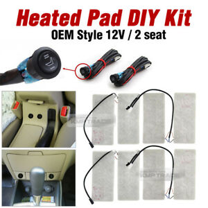 Universal Heated Pad 2Seat 12V LED Switch Hot Heater Diy Kit for OPEL Car