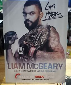 Liam McGeary signed autographed Bellator MMA 8x10 promo
