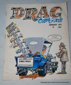 VINTAGE ORIGINAL January 1971 V3 #5 DRAG CARTOONS MAGAZINE About Fine