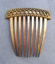 Regency fire gilded hair comb Georgian decorative hair accessory