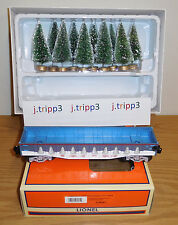 LIONEL 6-26061 LIONELVILLE CHRISTMAS GONDOLA TREES TRAIN CAR O GAUGE TRANSPORT