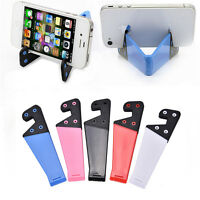 1/5X Foldable Mobiles Cell Phone Stand Holder For Smartphone Tablet HC