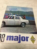 Renault 8 R8 Major R8 1965 catalogue prospectus brochure dépliant publicité