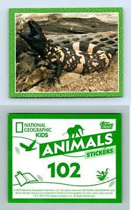 Gila Monster #102 National Geographic Kids Animals 2019 Topps Sticker