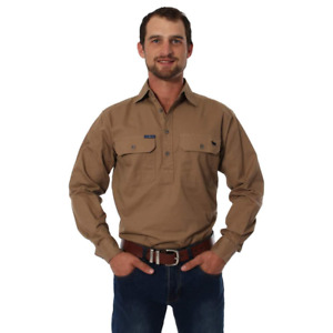 King River Clay Half Button Work Shirt Ringers Western