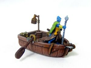 Row boat resin miniature 28 mm scale D&D Warhammer AoS