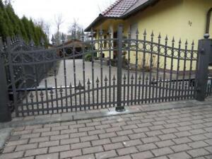Einfahrtstor Elektro Flügeltore Handarbeit  pro 1lfm Schmiedeeisen Tor #352 Neu