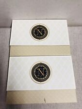 """2 X Punch Studio Monogram Note Cards Envelopes Case Pouch Initial  """"N"""" N  20/20"""
