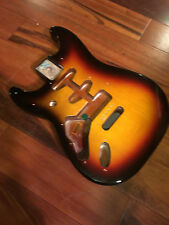 Left Hand Genuine Fender Stratocaster Strat 3 Tone Sunburst Alder Body Lefty