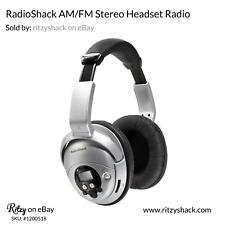 AM/FM Stereo Headset Radio Consumer Electronics Portable Audio Headphones New