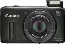 Canon PowerShot SX260 HS 12.1MP GPS Digital Camera Black + 32GB Memory HDMI