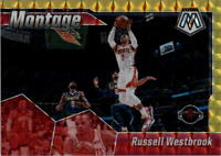 2019-20 Panini Mosaic Montage Mosaic Gold #4 Russell Westbrook /10 - NM-MT