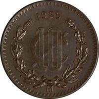 Mexico 1935 10 Centavos KM #430 XF+