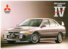 Mitsubishi Lancer Evolution IV GSR 1997 UK Market Foldout Sales Brochure