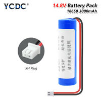 18650 Battery 3000mAh Rechargeable 3.7V With XH 2.54 Plug For LED Lights Torch