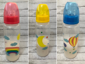 Rainbow / Balloon / Moon Reborn Baby Doll Fake Milk Formula 9oz Bottle