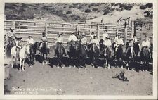 WOLF WYOMING DUDES at EATON'S RANCH COWBOYS circa 1920s RPPC Photo Postcard