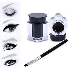 Pro nero impermeabile di trucco Cream Eyeliner Eyeliner Gel cosmetico + spazzola