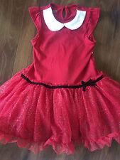 NEW girls FANCY CHRISTMAS DRESS tutu PARTY santa baby glitter FULL SKIRT SIZE 3T