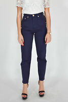 MOSCHINO JEANS Pantaloni Blu Elegante Taglia 42 DONNA WOMAN