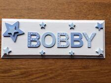 Personalised Children Bedroom Nursery Wooden Name Door Wall Sign Plaque Boy