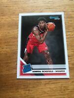 Admiral Schofield Rated Rookie 2019-20 Donruss Basketball - Washington Wizards
