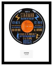 DAVID BOWIE - MEMORABILIA - VINYL RECORD LYRIC ART - Limited Edition