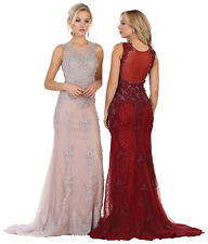 FORMAL SPECIAL OCCASION DRESS LONG BEAUTY PAGEANT GOWNS SLEEVELESS PROM EVENING