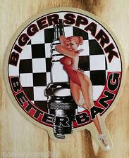"Pin up Sticker Oldschool "" Bigger Spark "" Vintage Rockabilly / Aufkleber USA"