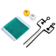 Portable Table Tennis Net Post Clamp Fix Stand Kit Set with 2 Ping Pong Balls
